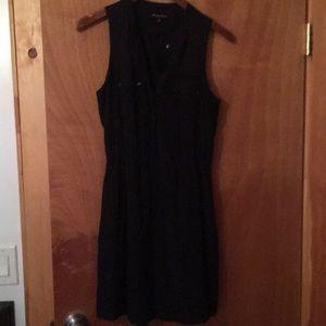 Black silk Madewell dress